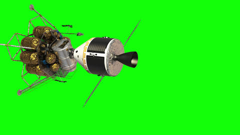 Undocking The Descent Module From The Spacecraft. Green Screen GIF