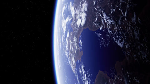 4K. Planet Earth. Amazing View From Space GIF