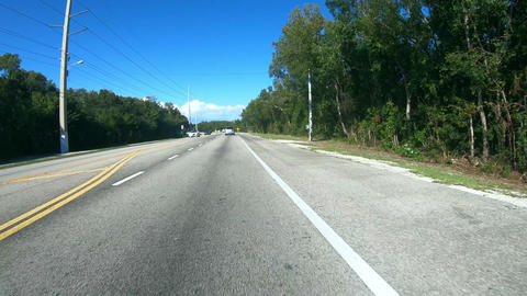 Driving down the road to Key West - Florida Keys Road - first person view Live Action