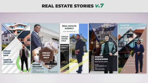 Real Estate Stories v 7 After Effectsテンプレート