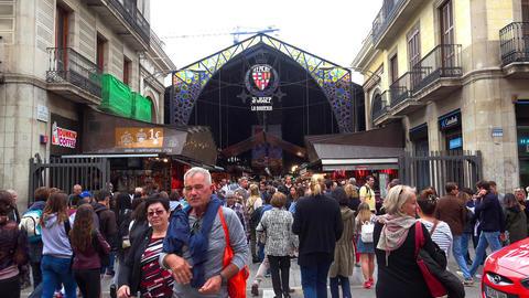 Food Market in Barcelona. Spain. 4K GIF