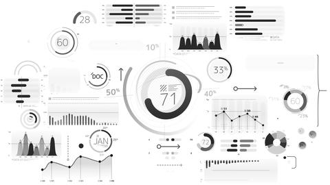 Business infographics elements with alpha channel Live Action