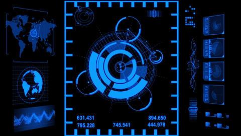 hud navigation system 4 type Animation