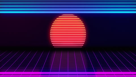 VHS retro animation with the appearing neon rectangle and the text grade a Live Action