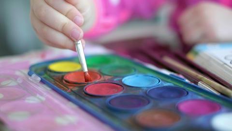 children painting creativeness background paintbrush palette Live Action