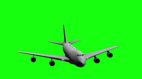 Passenger Airplane on a Green Screen Live Action