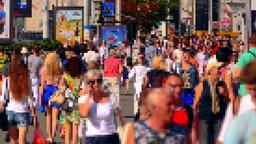 4K Pixel People / Crowd of People / Virtual World Footage