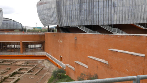 Ruins of in the Auditorium Parco della Musica Rome, Italy Footage