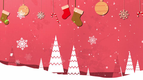 Christmas Vintage 4 Loopable Background Animation