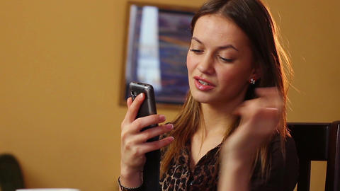 Attractive young woman typing message to boyfriend relationships Footage