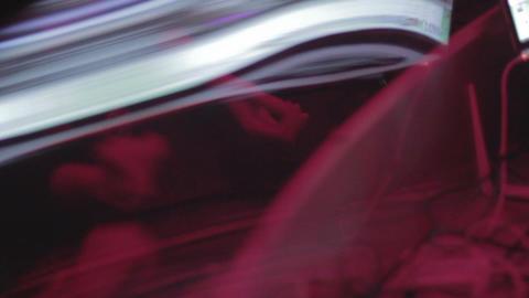 Dancing people reflection in glass, enjoying nightlife in club Footage