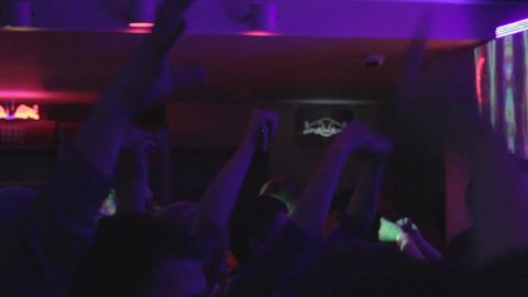 Male female dancers enjoying party, nightclub atmosphere Footage