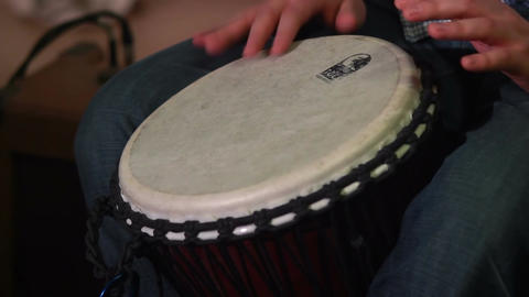 Drummer plays drums at musical event, live sound classics rhythm Footage