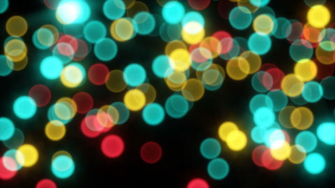 Moving bokeh light sparkles seamless loop in 4k Animation