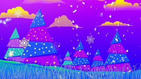 Retro Christmas 4 Loopable Background Animation