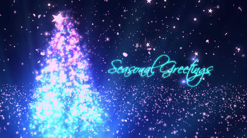 Seasonal Greetings 1 Loopable Background Animation