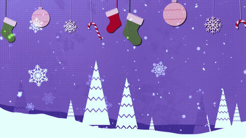 Christmas Vintage 5 Loopable Background Animation