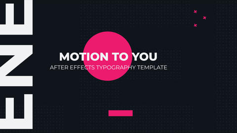 Dynamic Typography Opener After Effects Template