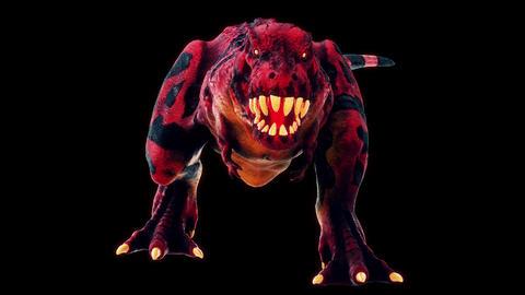 Scary Hell Dinosaur Vj Loop Animation