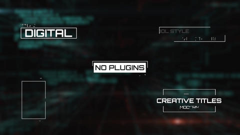 Digital Titles Motion Graphics Template