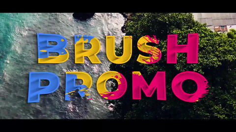 Color Brush Promo Motion Graphics Template