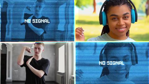 No Signal Glitch Transitions Premiere Pro Template