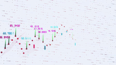 Digital animation of Stock market prices changing. Stock market tickers with Live Action
