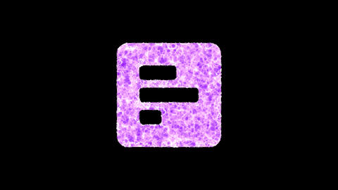 Symbol poll shimmers in three colors: Purple, Green, Pink. In - Out loop. Alpha channel Animation