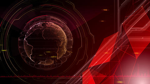 AI digital data network computer technology 3D illustration background 5 24 red CG動画