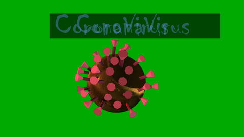 Animated CoronaVirus Like Representation w/ Title (Looping): Green Screen Animation