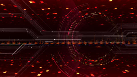 AI digital data network computer technology 3D illustration background 5 10 red Animation