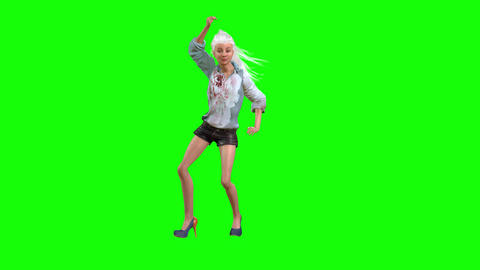 556 4k 3d animated avatar slim girl belly dances Animation