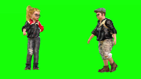 561 4k 3d animated avatar girl and boy argue Animation