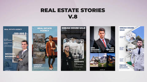Real Estate Stories v 8 After Effectsテンプレート