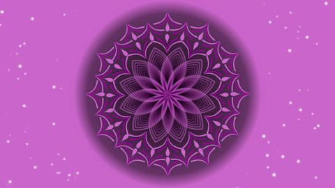 Pink mandala in tunnel motion, live mandala for love, joy and positive mood Animation