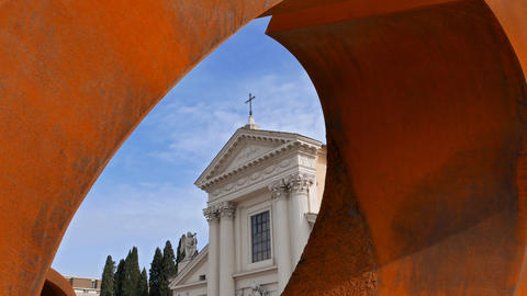 Chiesa di San Rocco. Zoom. Rome, Italy Footage