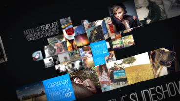 Unfold Photo Slideshow After Effects Template