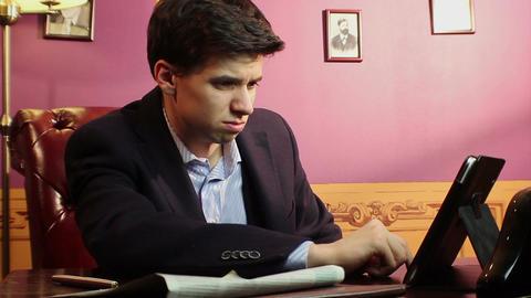Businessman going bankrupt, bad news, crisis, startup fail Live Action