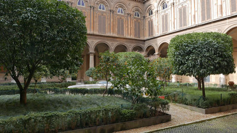 Courtyard Gallery Doria - Pamphili. Rome, Italy Footage