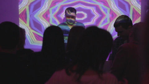 Nightclub, people having fun on dancefloor, enjoying nightlife Footage