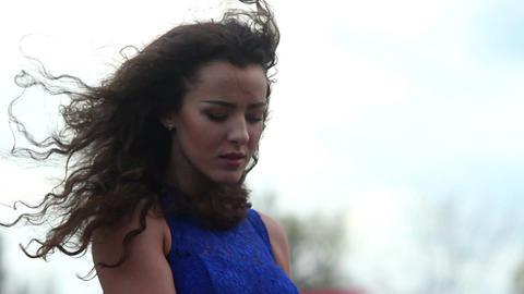 Beautiful solitary female, sadness, depression, desperate love Footage