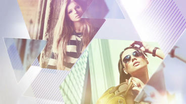 Triangle Fashion Slideshow After Effects Project