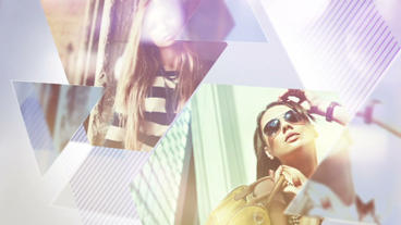 Triangle Fashion Slideshow After Effects Template