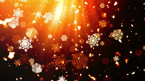 Holiday Snowflakes 9 Loopable Background Animation