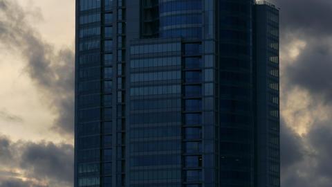 4K Skyscraper Building / Corporate Building / Clouds and Sky Footage