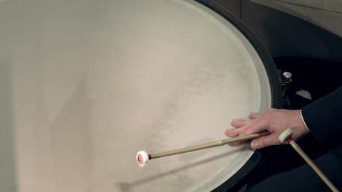 1080p Timpanist Plays Timpani at Classical Music Concert Footage