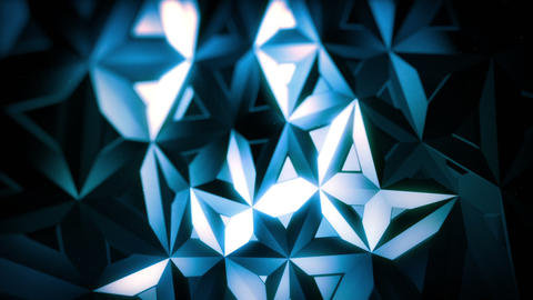 Blue Polygon Triangles Surface Animation