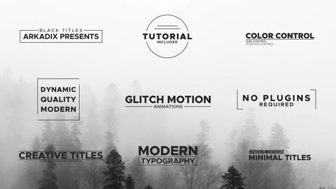 Black Titles Motion Graphics Template