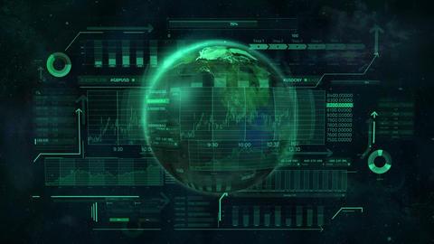 Animation on the subject of digital economy of the world Animation