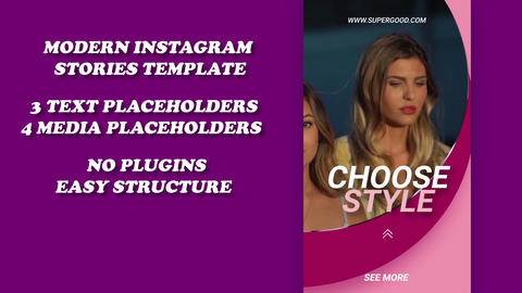 Instagram Stories template After Effects Template